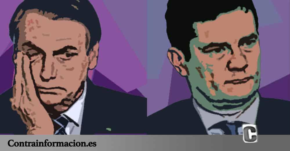 Sérgio Moro y Jair Bolsonaro