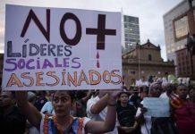 Líderes sociales Colombia