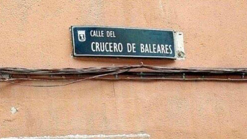 """El Ayuntamiento de Madrid cambia la calle """"Barco Sinaia"""" por """"Crucero Baleares"""""""