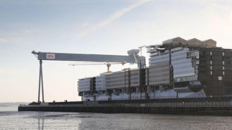 Condiciones laborales vejatorias en los astilleros Chantiers de L'Atlantique de Saint-Nazaire / Imagen: elDiario.es
